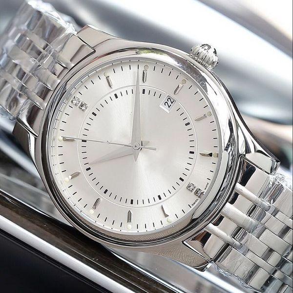CINA SILVER 42MM CASE uomini automatici meccanici moda orologio all'ingrosso fascia di lusso nuovo acciaio inossidabile Mens orologi