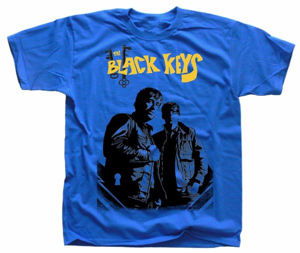 THE BLACK KEYS Poster ver. 1, T-Shirt (Blue, white, orange, red) S-5XL Cotton Low Price Top Tee For Teen Boys O-Neck Hipster