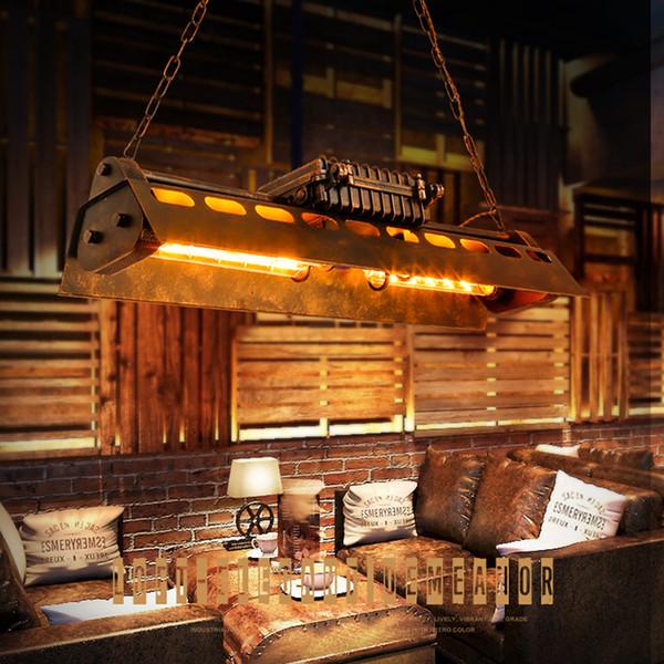Retro antiguo color óxido industrial loft luces colgantes de metal E27 Edison LED bombilla suspendida lámparas colgantes para bares restaurante decoración