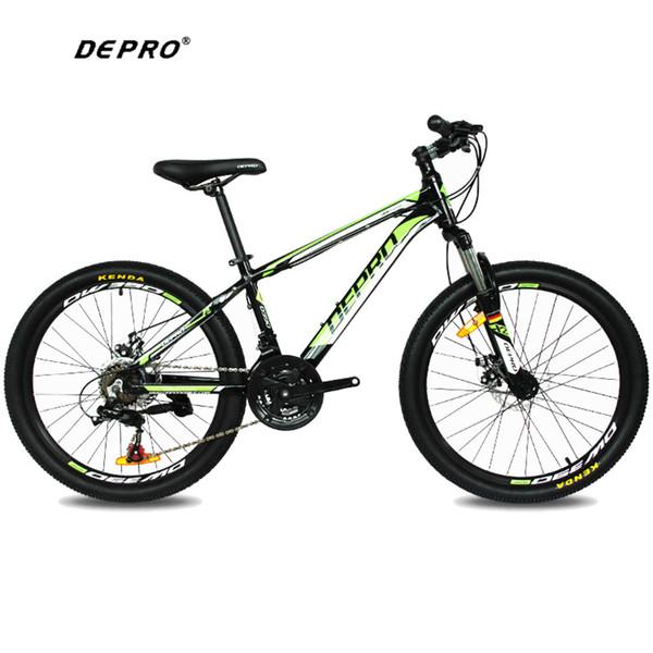 Comercio al por mayor 21 Velocidad 24 Pulgadas 9-13 Y Estudiantes Bicicletas de Montaña del Engranaje de Freno MTB Profesional Doble Disco de Freno Ciclismo Bicicleta