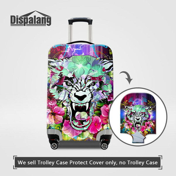 Travel On Road Luggage Protective Cover Cool Eye Animal Expression Printing Baggage Protect Covers Dustproof Rain Waterproof Cover For Women
