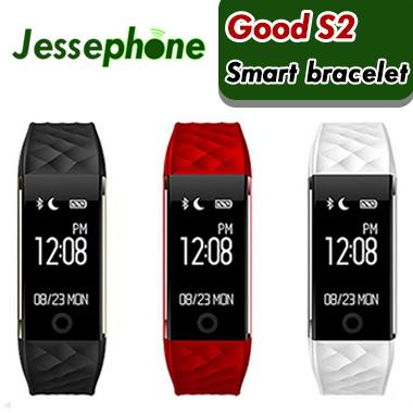 50X Bluetooth Smart Band S2 Wristband Wristband IP67 Impermeabile Smartband Activity Tracker Bracciale per Android IOS VS FitBit DHL