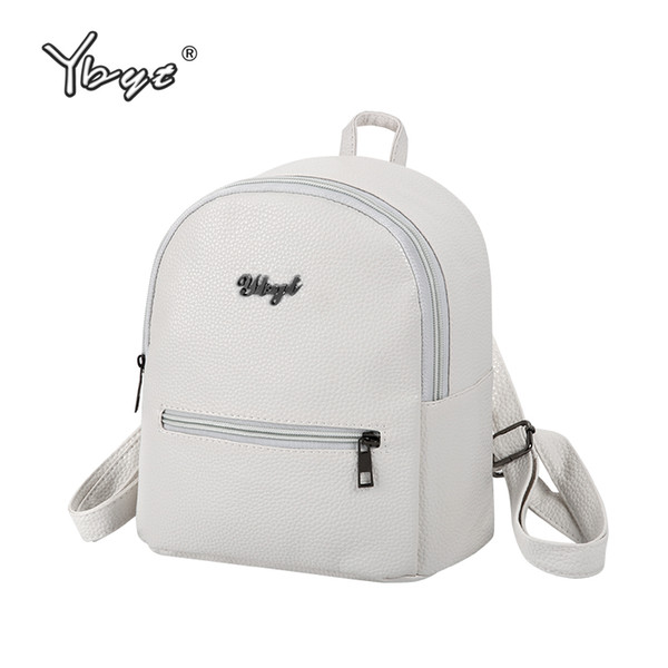 YBYT brand 2017 new PU soft leather women casual small packet preppy style girls rucksacks female shopping bags ladies backpacks