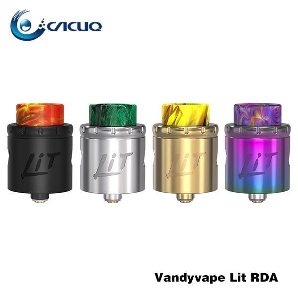 VandyVape Allumé Vis de réservoir RDA pour changer le type de flux d'air Glisser le système de flux d'air Base multifonction pour 3 modes de construction de bobines Tête 100% d'origine