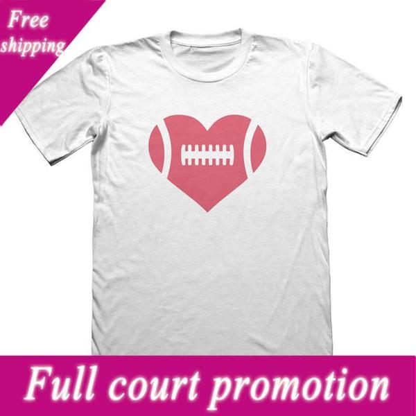 Streetwear Lustige Print-Kleidung Hip-Tope Mans Tops Tees Neuheit Liebe Fußballer Rundhalsausschnitt Kurzhülse Mens Tees