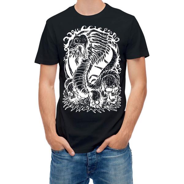 T-shirt Snake Devil Dead Rising Skulls Pen Sketch T24963