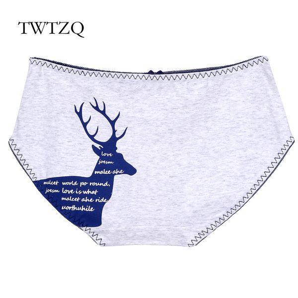 TWTZQ Hot Sale Cotton Women's Briefs Sexy Dear Panties Ladies Panty Cotton Cute Breathable Underwear For Girl Lingerie A2NK150