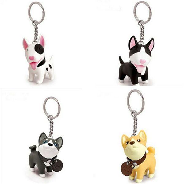Figura de acción del perro de PVC muñeca de vinilo Anime figura juguetes perro lindo llavero para coche clave titular Terri Bull Terrier excelente regalo