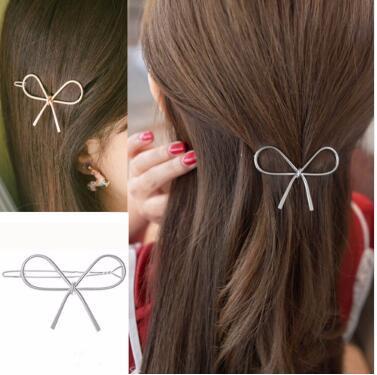 Großhandel Frauen Mode Haarschmuck Geometrische Openwork Mädchen Schmetterling pins Einfache Haarspangen Haarschmuck Kopfschmuck