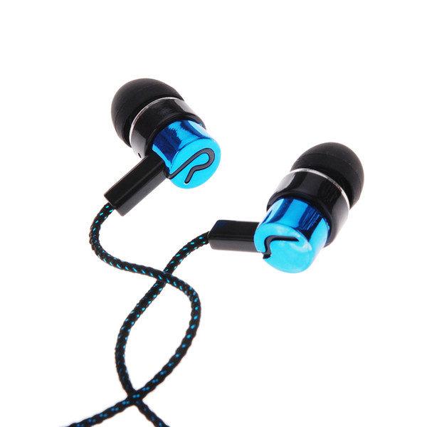 Wired Earphone 1.1M Reflective Fiber Cloth Line Noise Isolating Stereo In-ear Earphone Earbuds with 3.5 MM Jack Standard
