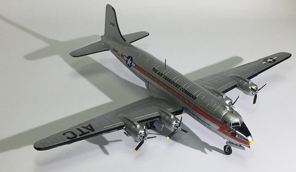 Military Alloy Strategic Transport Aircraft Skymaster C-54 Model 1:144 Plastic Ornaments Toys Collection Gifts Free Shipping