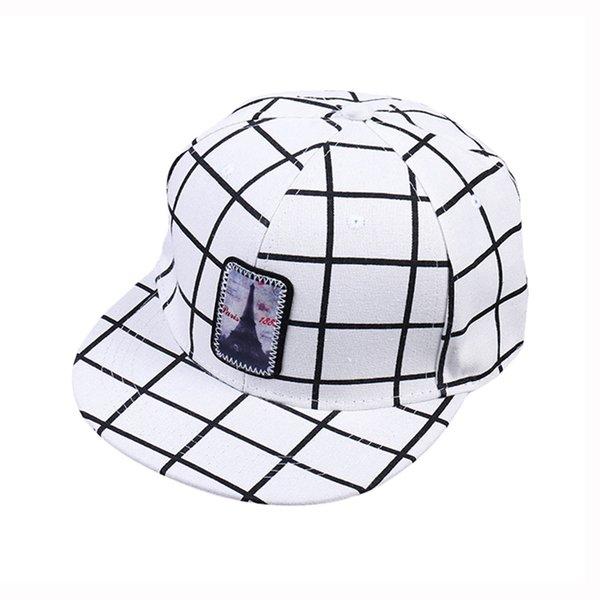 XYKGR Sombrero de mujer Bordado a cuadros Sombrero plano Hombres Ocio Ocio  Hip Hop Gorra de béisbol Sombra Gorra de protección solar cbff99de1ed