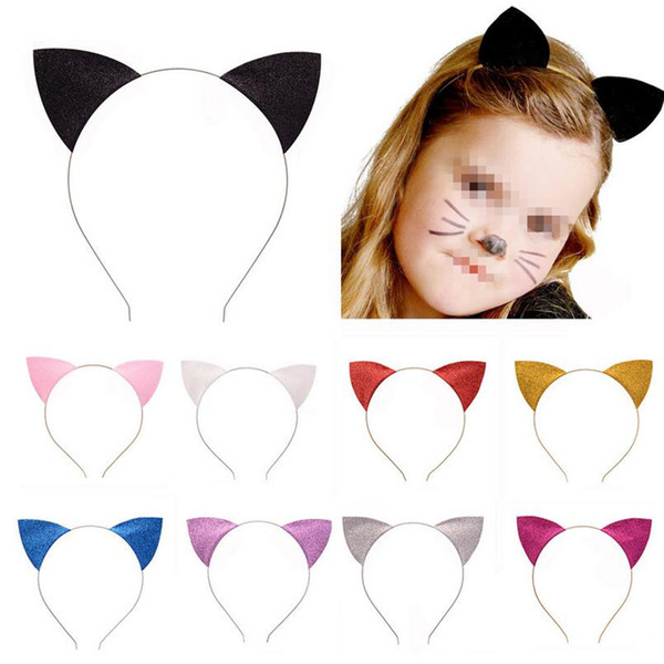 European Kids Headband Cat Ear Head Hoop For Kids Girls Headwear Decoration Birthday New Year Party