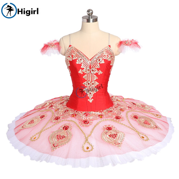 Donna Red Pink La Corsaire Tutu di prestazione Balletto Stage Costume Gamzatti Balletto professionale Tutu Gonna Ballerina BT9176