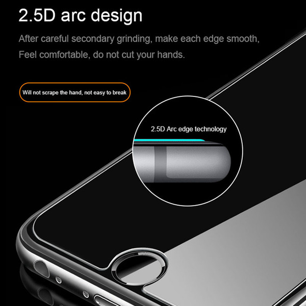 For iPhone 9 9 plus X 8 Tempered Glass Screen Protector For Iphone 6S 7 8 plus 5 5S SE Edition Film 0.33mm 2.5D 9H Anti-shatter Glass DHL