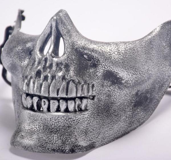 Череп маски 5 цветов весело пейнтбол ПВХ Airsoft страшно скелет Маска защитные CS игры Хэллоуин карнавал открытый партия
