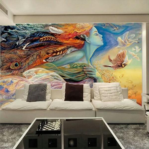 Custom Mural Wallpaper 3D Personality Abstract Figure Graffiti Wall Painting Cinema Bar KTV Bedroom TV Backdrop Photo Wallpaper
