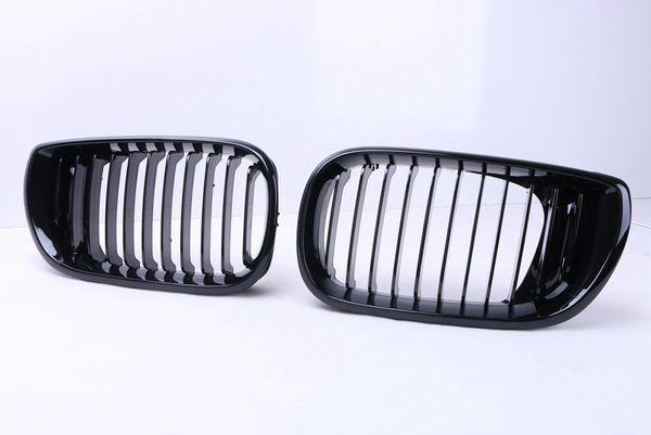 2pcs High Quality ABS Gloss Black Front Kidney Racing Grilles Grills For BMW E46 4 Door 320i 325i 330i LCI 2002 - 2005 Sedan C/5
