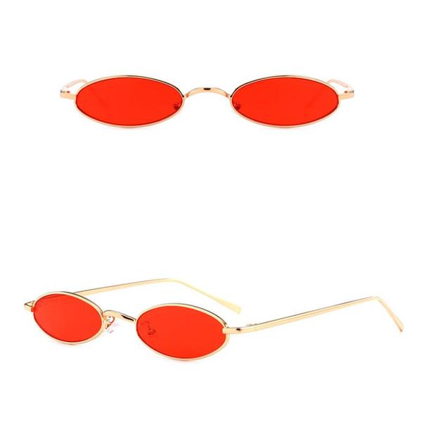 Gafas de sol pequeñas Metal Oval Frame Cool Punk Design para hombres y mujeres 2018 Nuevas 8 colores Wholesale Eyewear Shop Melody2041