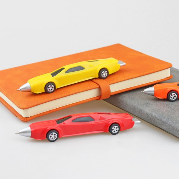 Creative Desktop Sports Car Ballpoint Pen Nuevo Pull Wind Rolling Sports Car Bolígrafo del coche DHL gratuito 461