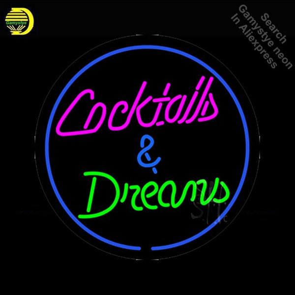 NEON SIGN For Cocktail Dreams neon Light Sign Beer Advertise Window for sale light Dropshipping retro LAMPS lights interior