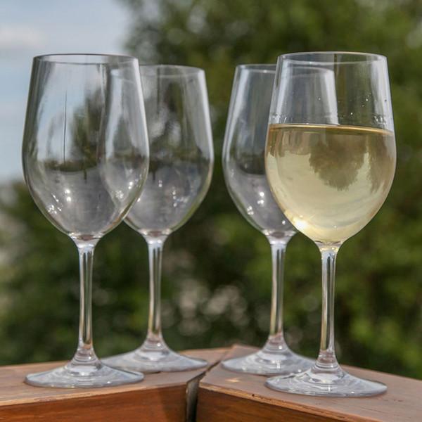 Venta al por mayor-4 piezas, vidrio acrílico de vidrio para vino, interior / exterior de plástico plástico para vino, irrompible y reutilizable