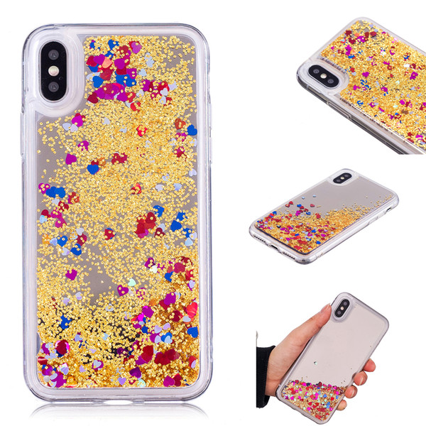 Cover For Apple iPhone X Case Quicksand Flash Glitter Powder Mirror Hard Mobile phone Cases Covers For iPhone XS