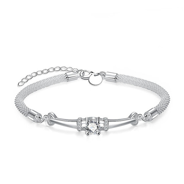 Clasp chain of female pagoda sterling silver plated bracelet ; Top sale fashion men and women 925 silver bracelet SPB382