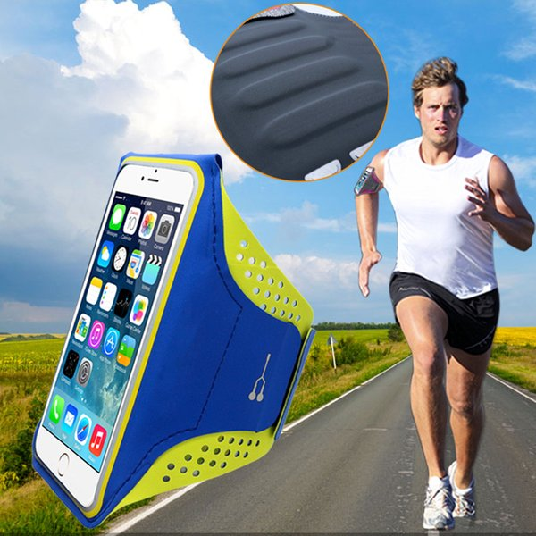 Sweat Guide Sports Jogging Gym Armband Running Bag Touch Screen Cell Phone Arm Wrist Band Hand Mobile Phone Case Holder