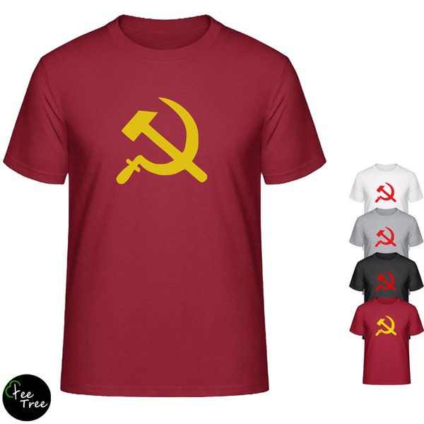 Russian Hammer And Sickle - Soviet Russia Mens Tee Cotton Blend T-Shirt Cool Casual pride t shirt men Unisex New