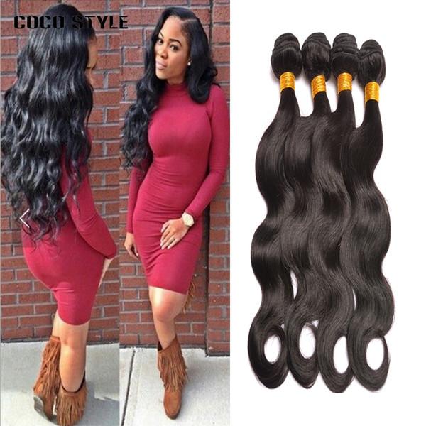 8A Brazilian Virgin Hair Body Wave 4 Bundles sin procesar Peruvian Raw Indian Malaysian Wet y ondulado Extensiones de cabello humano