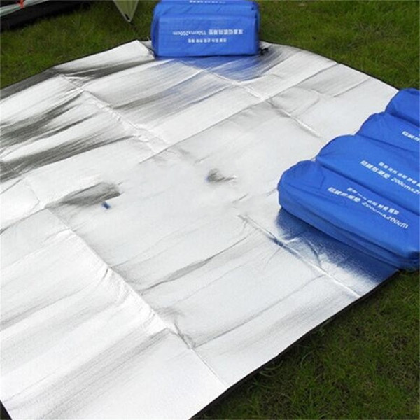 Pad a prova di umidità pieghevole a sei angoli Pellicola in alluminio a due lati Tappetino da picnic per tappeti da campeggio esterni impermeabili