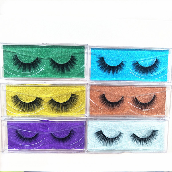 2018 Seashine 60 Pairs Natural Mink Strips Thick Cross Natural False Eyelash 3D Eyelash Extensions factory supply for sale