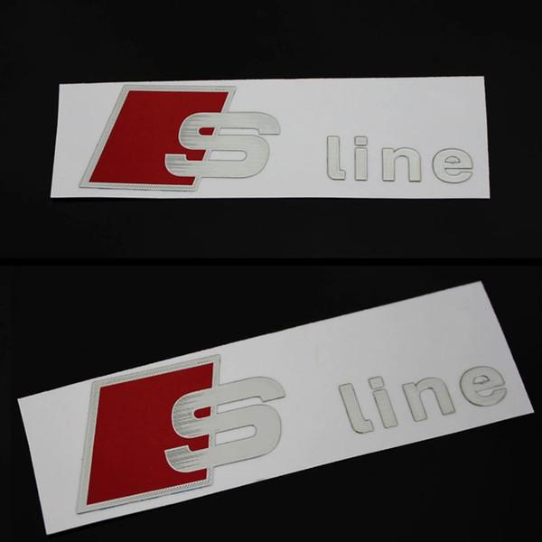 Großhandel Sline Logo Rückspiegel Aufkleber Aluminium Armaturenbrett Aufkleber S Line Bremssattel Aufkleber Für Audi A3 A4 A5 A6 A7 A8 S3 Von