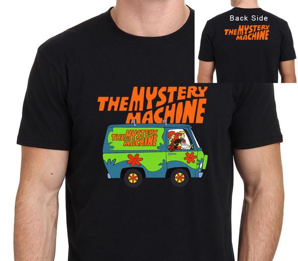 Scooby Doo Mystery Machine Herren T-Shirt Größe: XS-XXL Herren T-Shirt Sommer O Hals 100% Baumwolle Männer Kurzarm