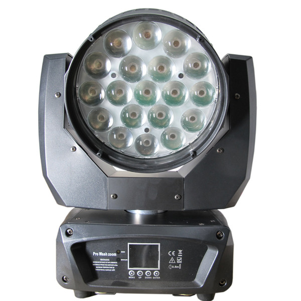 top popular Zoom Moving Head Light Beam Wash Stage Lighting 19pcs 15w Quad High Power Led Can work with Aura CTO adjustable 2021