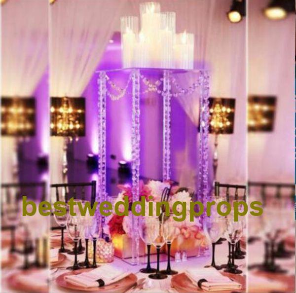 Acrilico Tromba Vaso Wedding Table Centrotavola acrilico Flower Ball Stand best0229