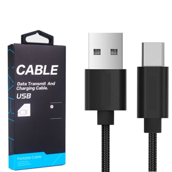 Hot Sale Nylon Braided Type C Cable,3.3FT/6.6FT Quick Charging 3.0 Conertor USB C Cable For Macbook,galaxy s8(2017) G5 G6