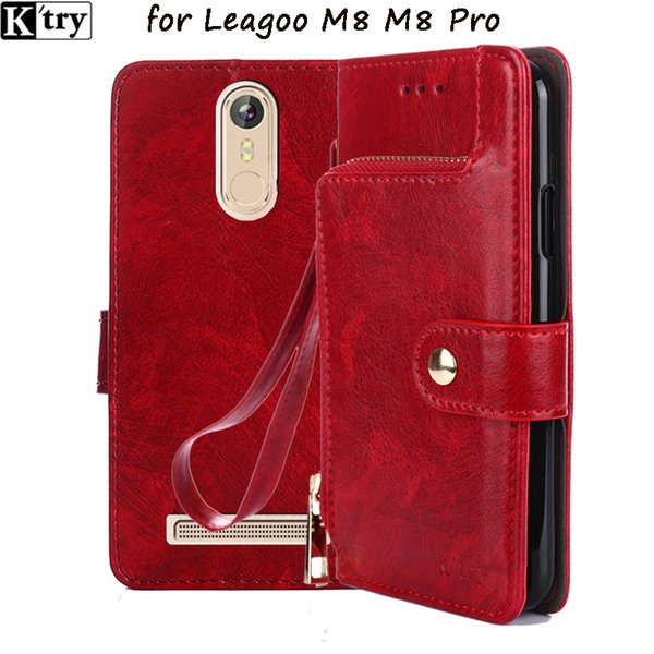 Atacado M8 Caso PU Leather + Silicone Macio Carteira Flip Capa para Leagoo M8 Pro Caso Fundas Telefone com Titular do Cartão