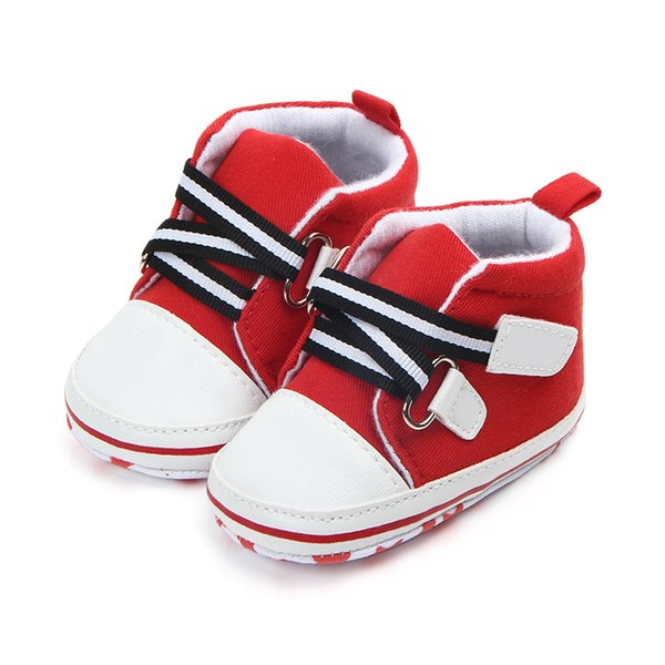 New Arrival Solid Color Unisex Non-slip Shoes Canvas Newborn Baby Boys and Girls Shoes For 0-15 Months