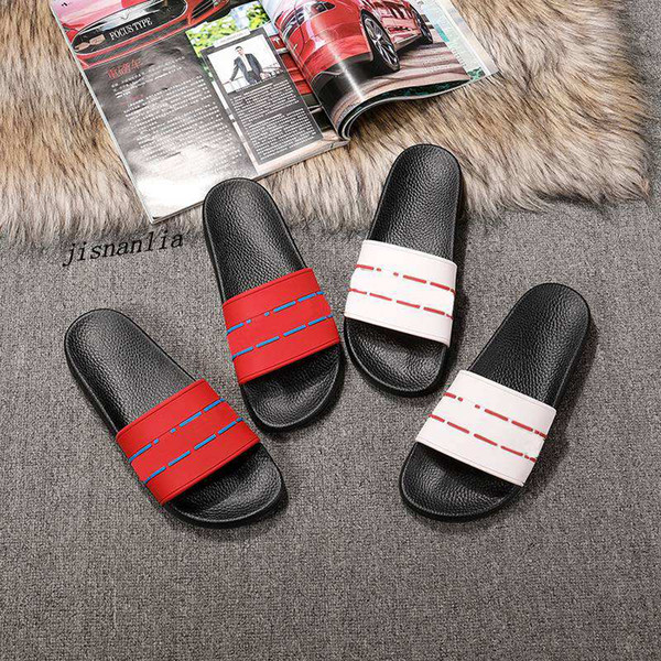new arrival 2018 mens and womens fashion white cream rubber slide sandals flip flops summer outdoor beach causal slippers
