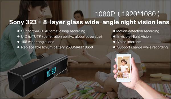 sicherheit wifi Kamera Uhr HD 1080 P WiFi Kamera Drahtlose Nachtsichtkamera Motion Camcorder Fotoaufnahme Überwachung für Zuhause