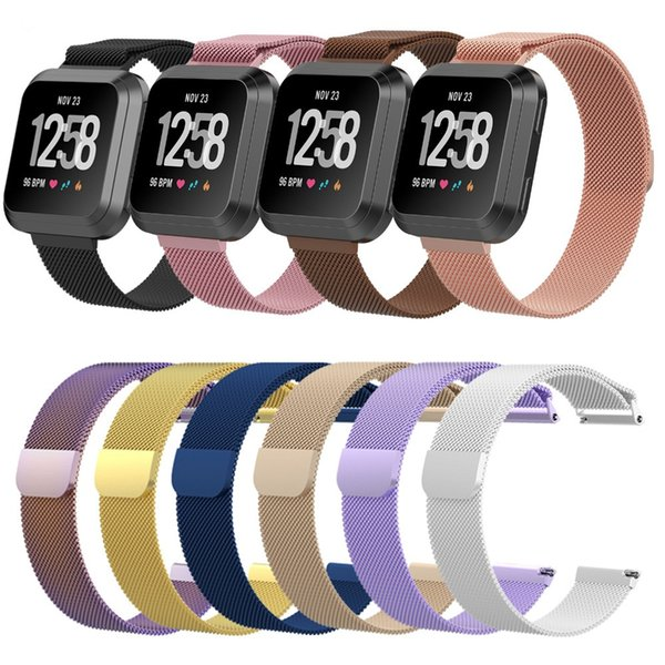 Milane e tainle teel magnetic loop bracelet wri t band trap for fitbit ver a mart watch replacement adju ted watchband