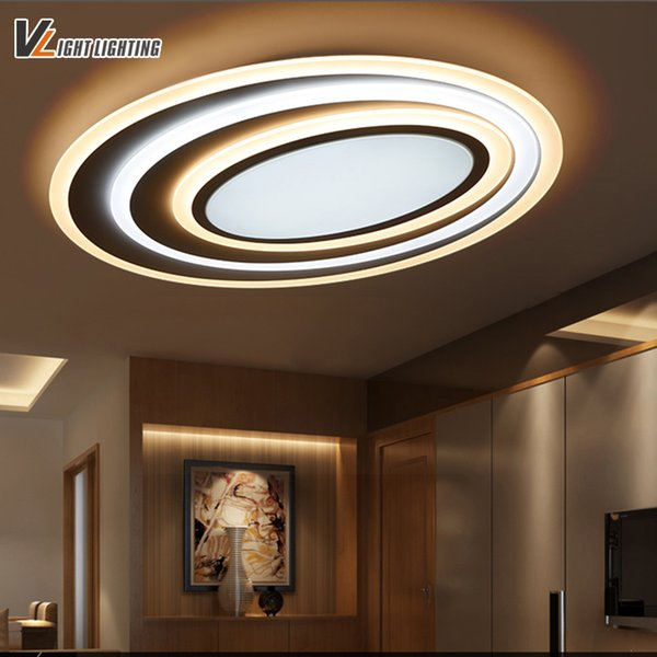 Großhandel LED Moderne Deckenleuchten Mit Dimmen + Fernbedienung Für  Schlafzimmer Wohnzimmer Bar Kaffeehaus New Design Deckenleuchte Leuchten  Von ...