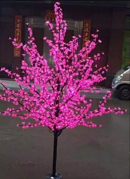 2m Led Crystal Cherry Blossom Tree Light Christmas New Year Wedding Luminaria Decorative Tree Branches Lamps Indoor Lighting Christmas Decorator