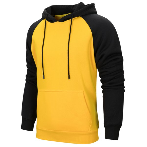 FeiTong Sweatshirts For Men Brand Mens Hoodies Streetwear Casual Long-Sleeved Stitching Loose Multi-Color Hooded Sweatshirt