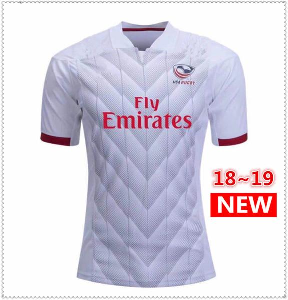 661ec2bccc3a5 NRL Camiseta de la Liga Nacional de Rugby EE. UU. Jerseys de rugby de  Estados Unidos azul marino 2018 2019 EE. UU. Camisetas de rugby para hombre  Tamaño S- ...