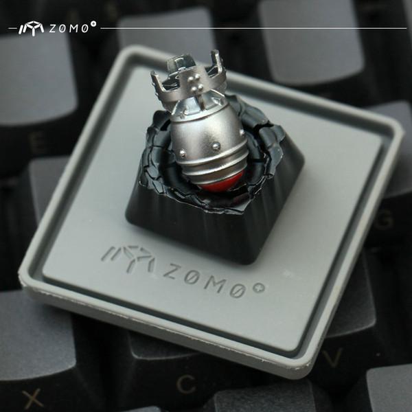 HFSECURITY ZOMO Von hinten beleuchtete Metalltastenkappen für mechanische Tastatur Passen Sie transparente Kreuztastenkappen für Gaming-Tastaturen an