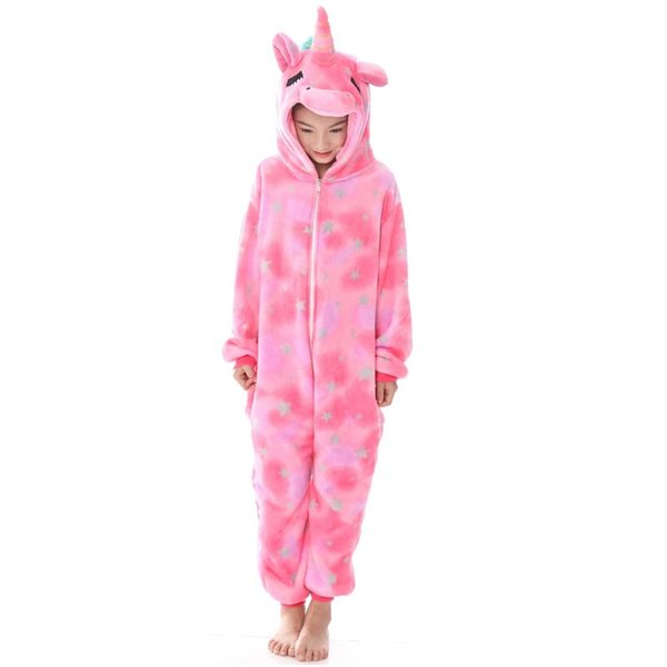 Yakın gözler Unicorn Kış Hayvan Pijama çocuk Dikiş unicornio Pijama çocuk sıcak Kigurumi kız erkek Unisex Fanila MX-037