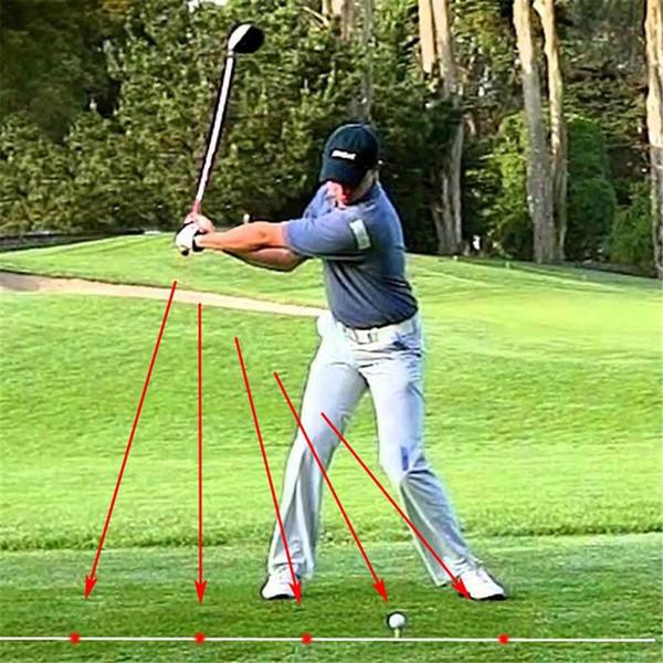 top popular Golf Swing Flat Concealer Laser Golf Trainer Swing Flat Aid Training Laser Pointer Point Address 2019